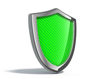 Green metal shield Stock Photo