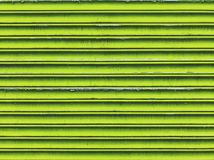 Green metal shutters Stock Photography