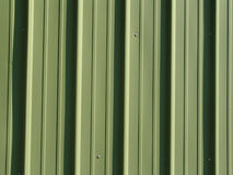 Green metal siding Stock Photography