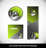 Green metal sphere Cd Dvd cover design Royalty Free Stock Photo