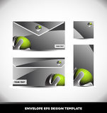 Green metal sphere envelope design template vector Royalty Free Stock Photography