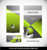 Green metal sphere flyer template design Stock Photography