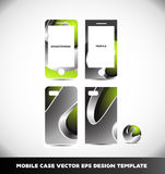 Green metal sphere mobile phone smartphone case design Royalty Free Stock Images