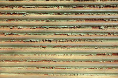 Green metal store roller shutter Royalty Free Stock Photo