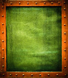 Green metal template Royalty Free Stock Images