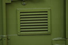 Green metal vent Royalty Free Stock Photo