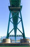 Green Metalic Lions Gate Bridge - Vancouver, Royalty Free Stock Images