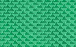Green metallic abstract background of triangles. Geometric repeating pattern with 3D effect for fabric and surface design. backdrop, wall paper, background Stock Images