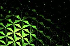 Green Metallic Background Stock Image