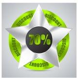 Green metallic badge Stock Photography