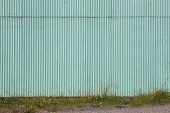Green metallic facade Royalty Free Stock Photography