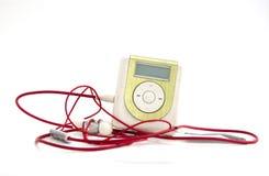 Green Metallic MP3 player Royalty Free Stock Photos