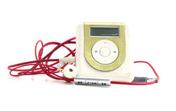 Green Metallic MP3 player isolated Stock Image