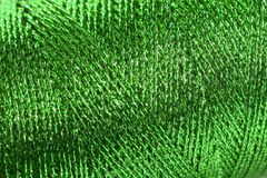 Green metallic spool pattern Stock Image
