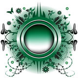 Green metallic summer frame Royalty Free Stock Images