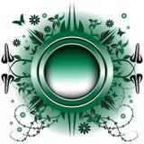 Green metallic summer frame Royalty Free Stock Images
