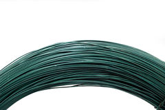 Green metallic wires isolated on white Stock Images