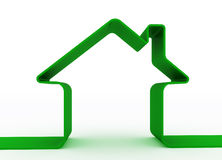 Green metaphor house Stock Photography