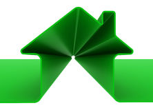 Green metaphor house Royalty Free Stock Images