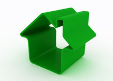 Green metaphor house Stock Images