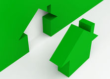 Green metaphor house Royalty Free Stock Image