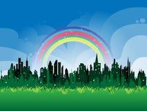 Green metropolis. Fabulous Green metropolis for your text Stock Images