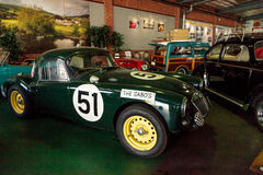 Green MG convertible sports car Royalty Free Stock Images