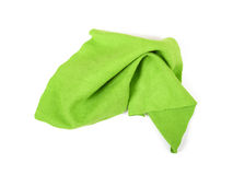 Green micro fibre cloth Royalty Free Stock Photos