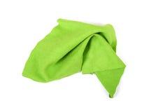 Green micro fibre cloth royalty free stock photos