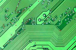 Green microcircuit Stock Photo