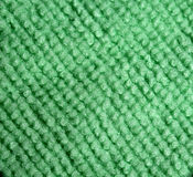 Green microfiber cloth close-up Stock Images