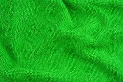 Green microfiber fabric texture Stock Photo