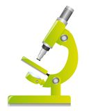 Green microscope. Isolated over white background. vector Royalty Free Stock Images