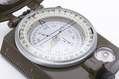 Green Military compass Royalty Free Stock Image