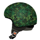 Green military helmet Royalty Free Stock Image