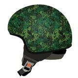 Green military helmet Royalty Free Stock Image
