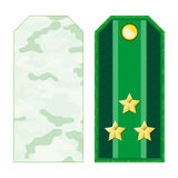 Green Military Shoulder Straps Royalty Free Stock Image