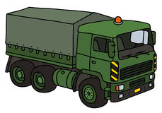 Green military truck Royalty Free Stock Image