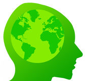 Green mind Stock Photos