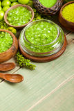 Green minerals for aromatherapy Stock Photo