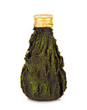 Green mini bottle Royalty Free Stock Photo