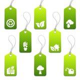 Green Mini Eco Tags Stock Image