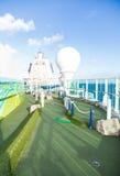 Green Miniature Golf Course on Cruise Ship. A green miniature golf course on a luxury cruise ship Royalty Free Stock Photos