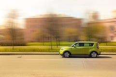Green minicar Royalty Free Stock Image