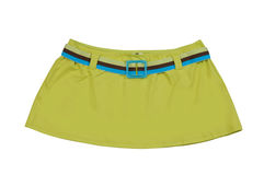 Green miniskirt Stock Photo