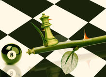 Green Minister Chess Stock Image