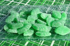 Green mint candies Stock Image