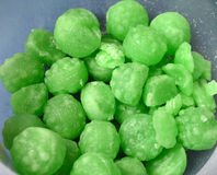 Green mint candies Royalty Free Stock Image