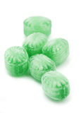 Green mint candy. On white background Stock Photography