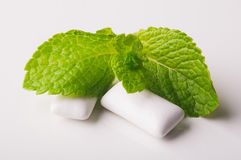 Green mint with chicle Royalty Free Stock Photos